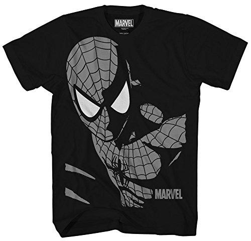Marvel Big Boys' Spider-Man T-Shirt, Midnight Black, MEDIUM (T Shirt Spiderman)
