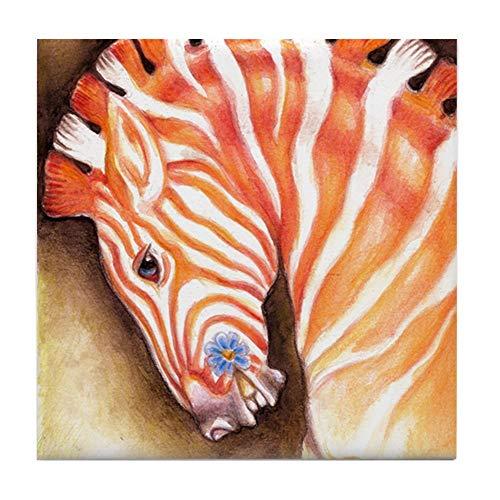 CafePress Carousel Zebra Horse Tile Coaster, Drink Coaster, Small Trivet