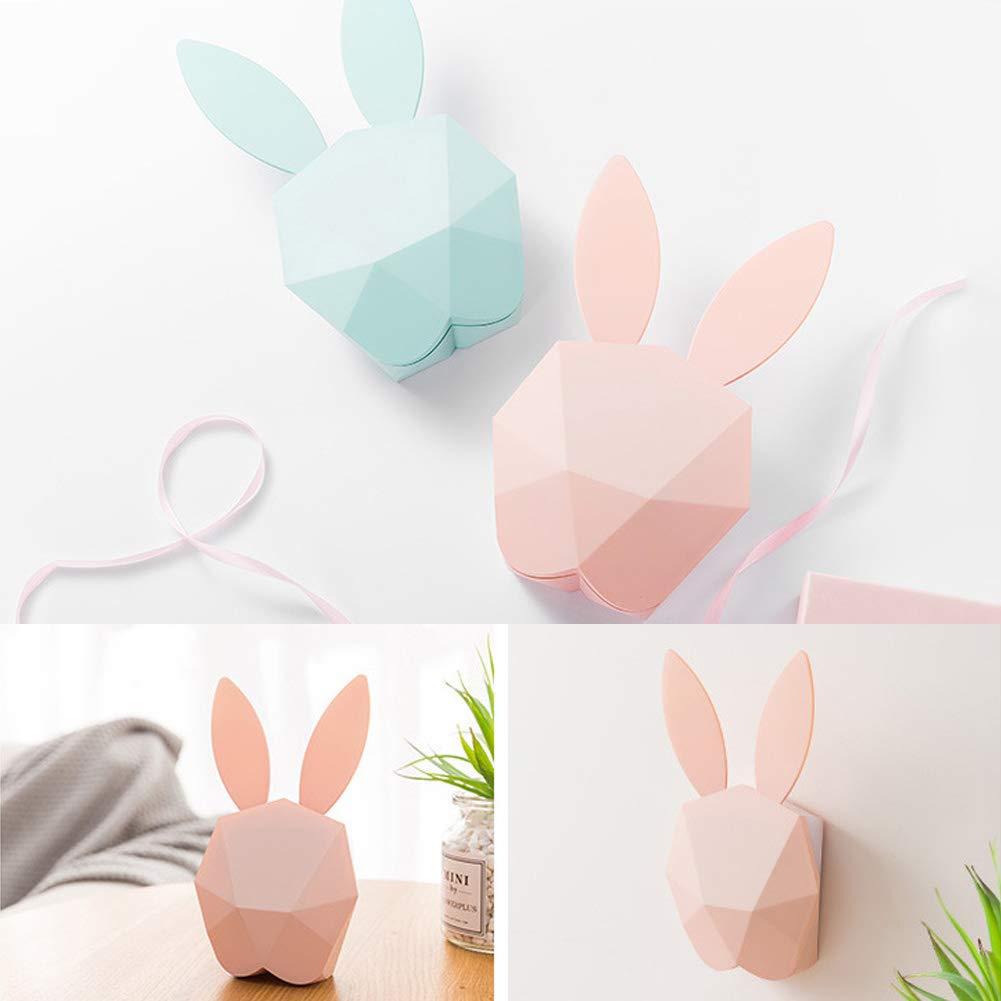 Rose Veilleuse pour enfants,r/éveil avec lampe en forme de lapin avec heure de rappel,r/éveil,fonction de temp/érature claire R/éveil l/éger pour enfants,filles,b/éb/é,chambre denfants