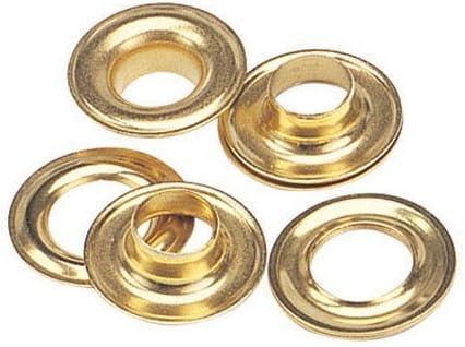 """C.S Osborne Brass Grommets /& Washers #G1-1 Size 1 9//32/"""" Hole 144 Sets"""