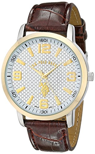 U.S. Polo Assn. Classic Men's USC50079 Two-Tone Watch with Textured Band