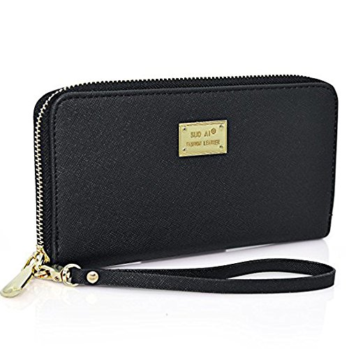 Zip Around Long Wallet (Black) - 8