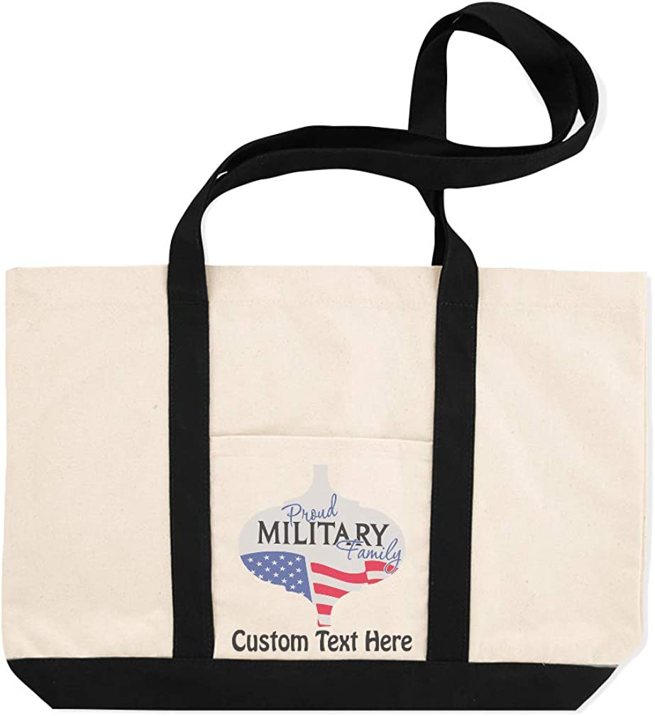 Canvas Shopping Tote Bag Proud Military Family A Proud Beach Bags for Women Family Gifts