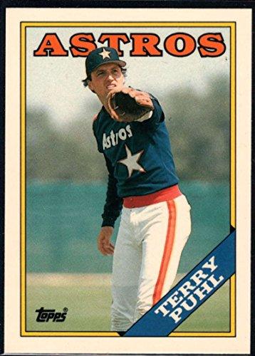 (1988 Topps Tiffany Baseball #587 Terry Puhl Houston Astros Official MLB Premium Trading Card)