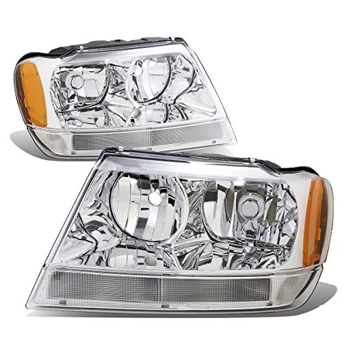 DNA MOTORING HL-OH-JGC99-CH-AM Headlight Assembly - Jeep Grand Cherokee Headlight Replacement