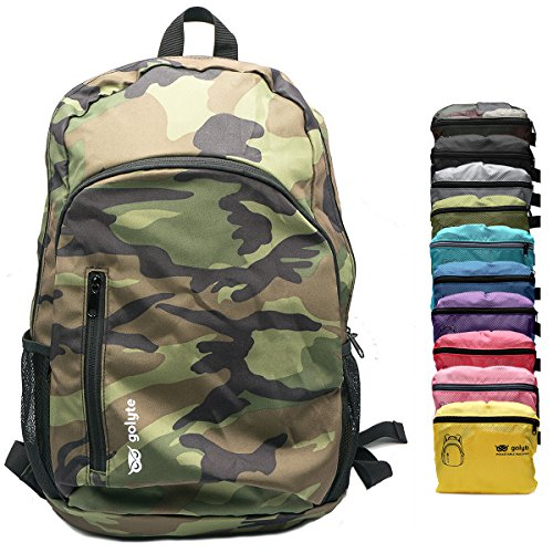 - Golyte Lightweight Packable Travel Hiking Backpack Daypack Camouflage Military Army