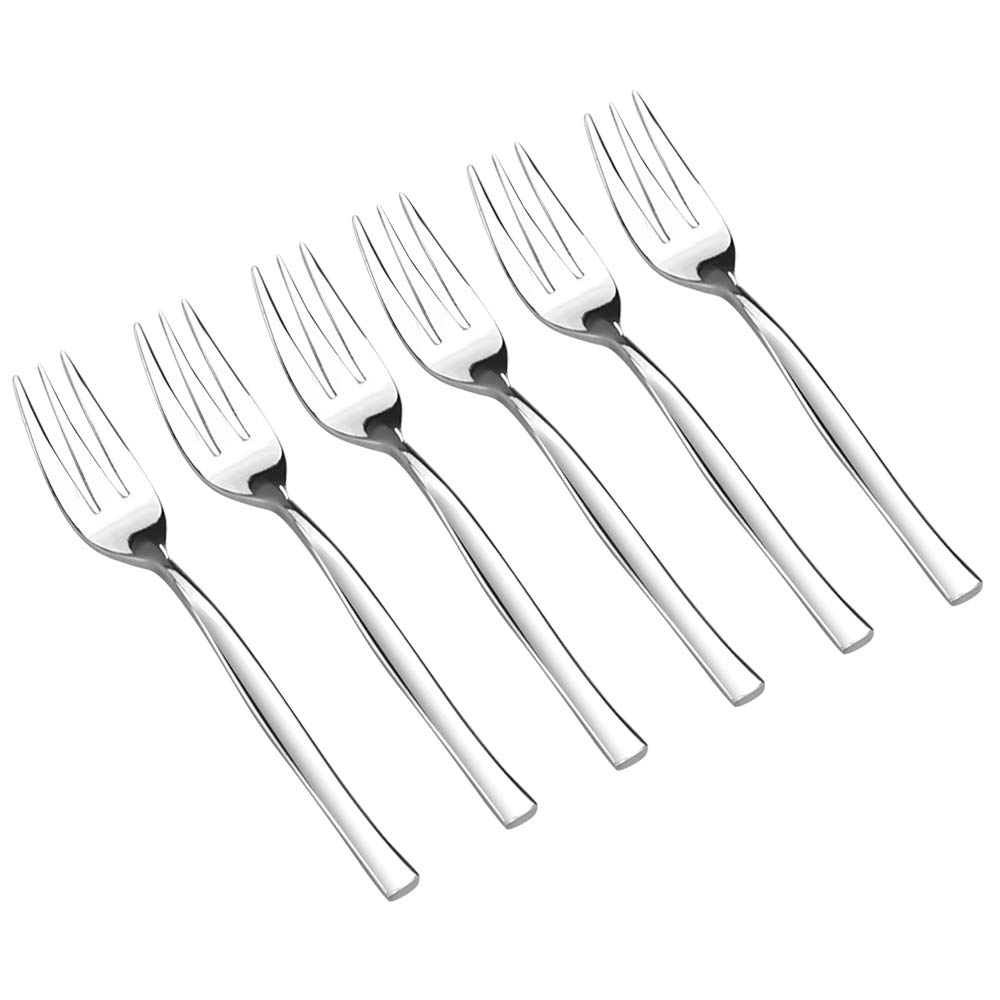 Idomy 16-Piece 3-Tine Stainless Steel Tasting Forks for Appetizers, Desserts