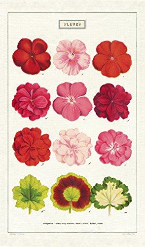 Cavallini Papers & Co. Cavallini Vintage Fleurs Cotton Tea Towel