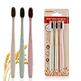 Natural Toothbrush Wheat Straw Adult Full Head Soft Toothbrush 6PCS Ms.Dear