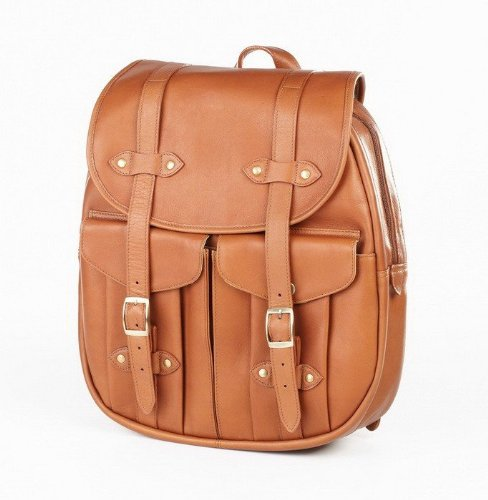 (Clava Manhattan Tab Leather Satchel - Leather - Tuscan Cafe - Tuscan Cafe)