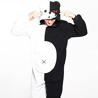 HKSNG Monokuma Bear Adults Animal Footed Pajamas Kigurumi Onesies Cosplay Costumes (S)  sc 1 st  Amazon.com & Amazon.com: HKSNG Monokuma Monomi Bear Pajamas Kigurumi Onesies ...