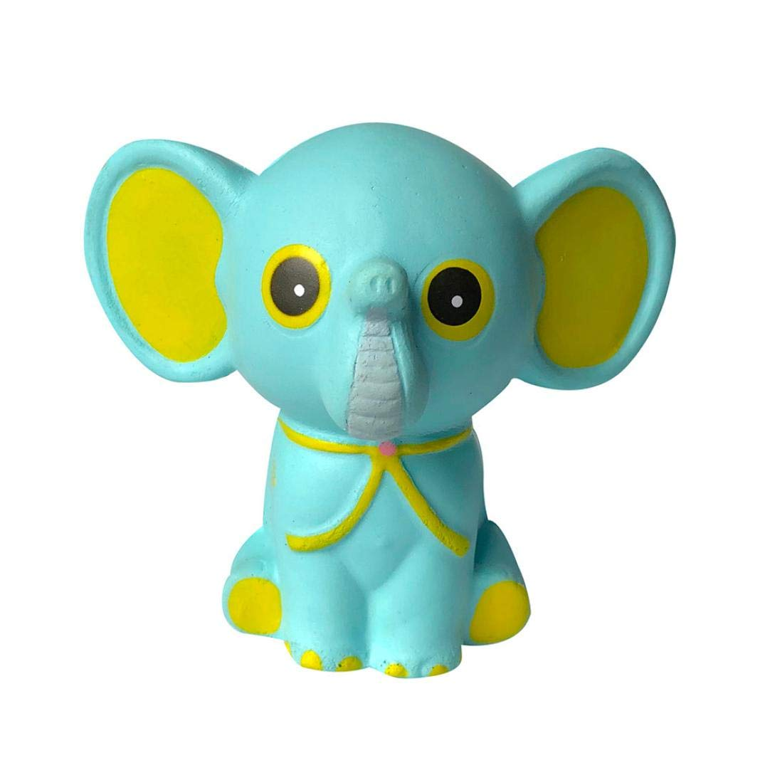 Squishies Jumbo - Squishies Adorable Elephant Slow Rising Cream Squeeze Scented Stress Relief Toys Squeeze Soft Toys for Kids Children Adults AW80606_1421