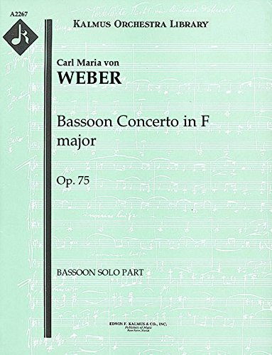 Bassoon Concerto in F major, Op.75: Bassoon solo part (Qty 2) [A2267]