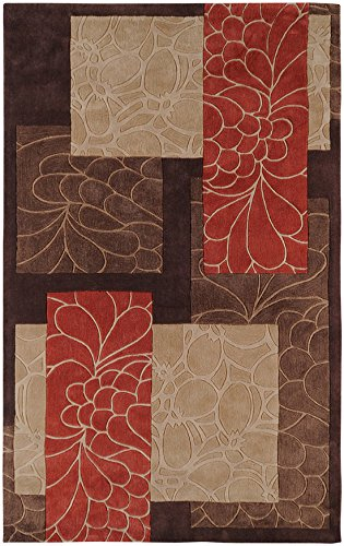 2706 Rug (Surya Cosmopolitan COS-8889 Transitional Hand Tufted 100% Polyester Dark Chocolate 2'6