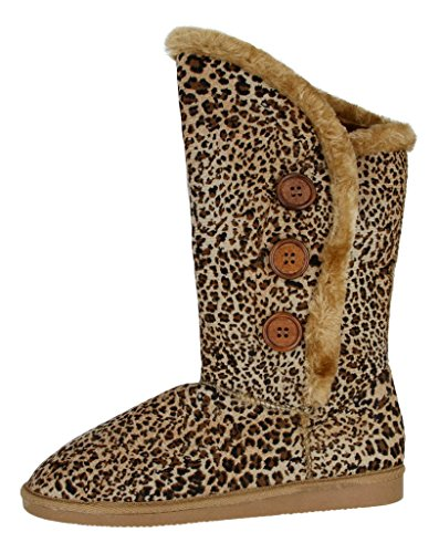 Women's Cute and Comfortable Soft Fur Fashion Winter - Leopard Boots With Fur