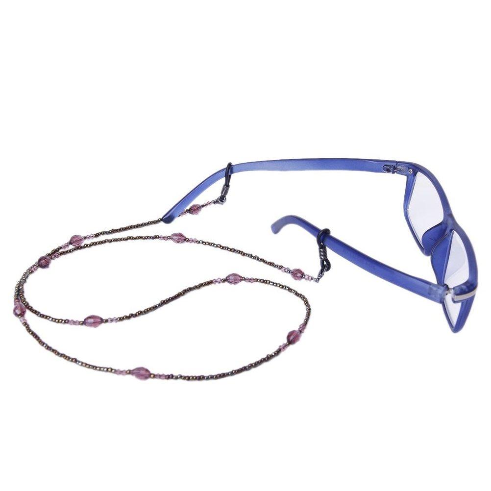 Pixnor Bohemia stile decorativo in rilievo gli occhiali da sole occhiali da vista occhiali catena titolare Heq6CpO