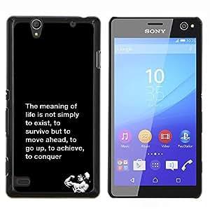 Dragon Case - FOR Sony Xperia C4 - meaning of life conquer fight exercise - Caja protectora de pl??stico duro de la cubierta Dise?¡Ào Slim Fit