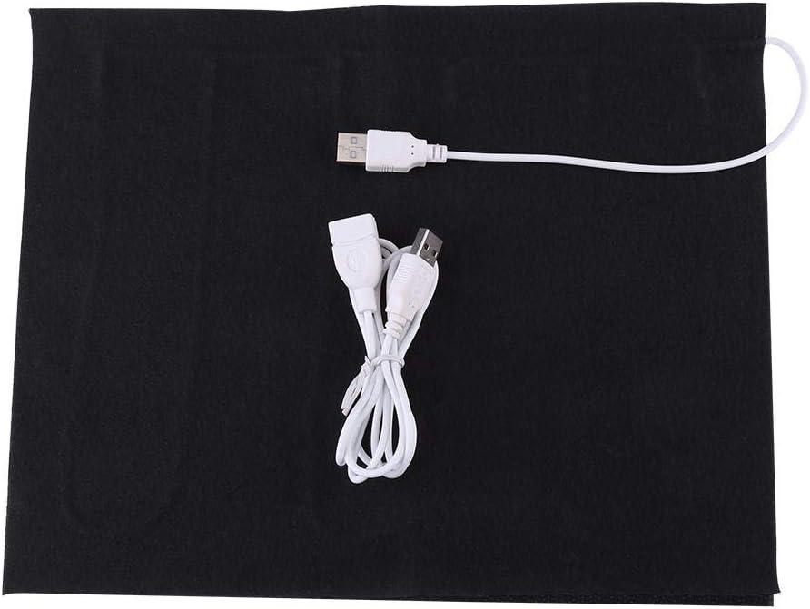Almohadilla térmica, calentador de tela eléctrica USB de 5V Elemento calefactor para ropa Asiento Calentador de cama para mascotas 35 50 -50 ℃ Alfombrilla de ratón Manta cálida, Calentador eléctrico