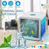 Liecho Personal Mini Air-cooler, Portable Air Conditioner Fan, Small Desktop Fan Personal Table Fan Compact Evaporative Air Circulator Misting Humidifier (Upgrade Version)