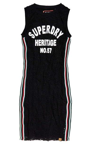 Superdry Blake Lace Midi Dress, Vestito Donna: Amazon.it
