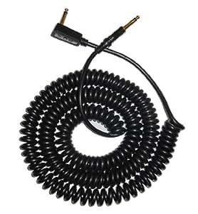 Vox VCC090BK - Cable jack a jack (acodado, 9 m, en espiral, conector chapado en oro), color negro