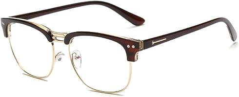 Zhuhaitf Universal Vintage Flat Radiation Protective Eyeglasses Frame Glasses Unisex