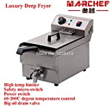16 Liter commercial deep fryer_oil fryer with basket_10L tank flat fryer