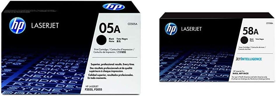HP 05A | CE505A | Toner Cartridge | Black & 58A | CF258A | Toner Cartridge | Black