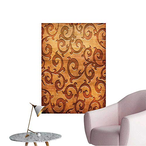 Vinyl Wall Stickers Carved Wooden Ornament(You can find More templates and Textures in My Portfolio) Perfectly Decorated,16
