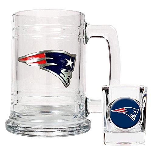 - NFL New England Patriots Boilermaker Set (Primary Logo)