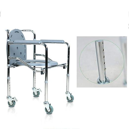 Toilet chair Silla Inodoro Plegable, Silla de Ducha con Ruedas ...