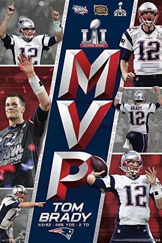 Trends International RP15474 Collector's Edition Wall Poster Super Bowl Li MVP Tom Brady, , 24 x 36