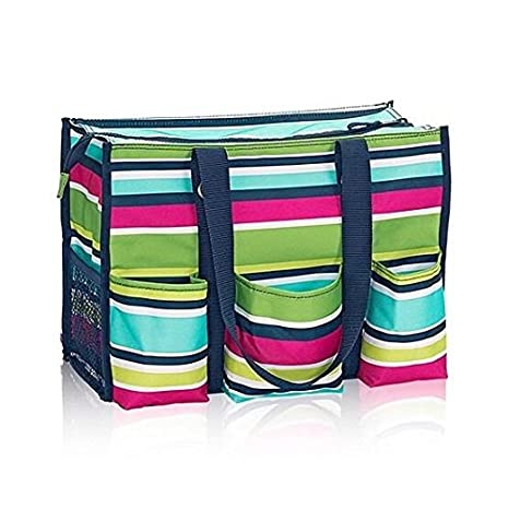 d3d2d6c9d3b0 Amazon.com   Thirty One Zip Top Organizing Utility Tote Preppy Pop    Everything Else