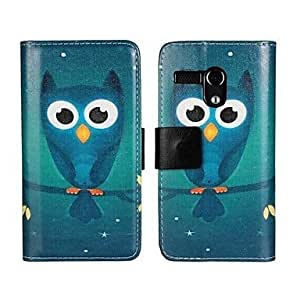 Cartoon Owl Full Body PU Leather Case with Card Slot for Motorola MOTO G