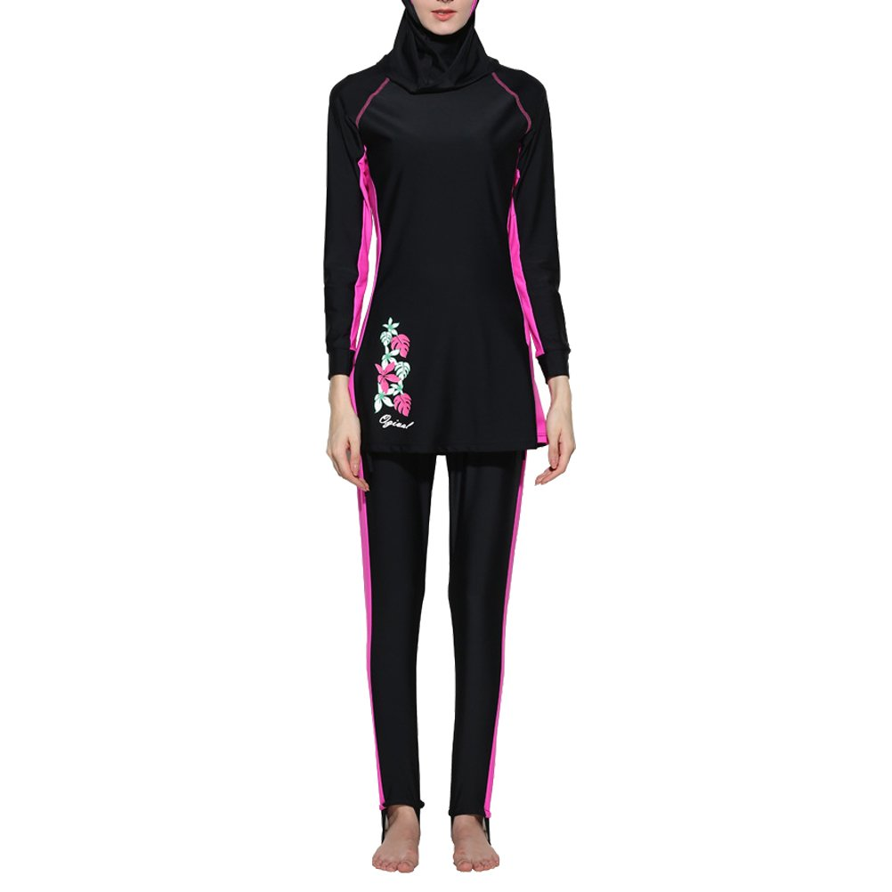 Zhuhaitf Women Girls Modest Hijab Burkini Costume da bagnos Muslims Swimwear