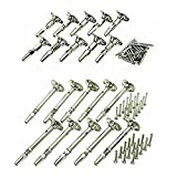(US) Atlantis Rail Easy System Swivel Terminating End / Turnbuckle (10 Pack) and Cable Tensioner-Flat (10 Pack) for Cable Railing