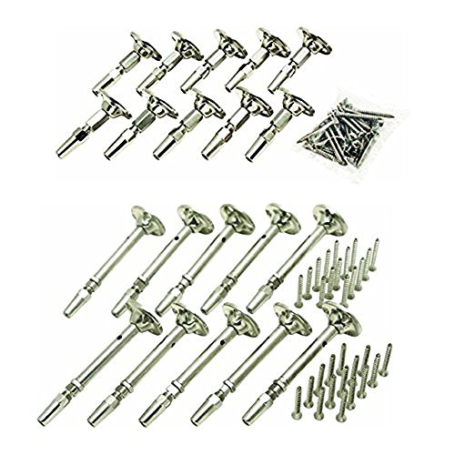 Atlantis Rail Easy System Swivel Terminating End / Turnbuckle (10 Pack) and Cable Tensioner-Flat (10 Pack) for Cable Railing by Atlantis Rail System