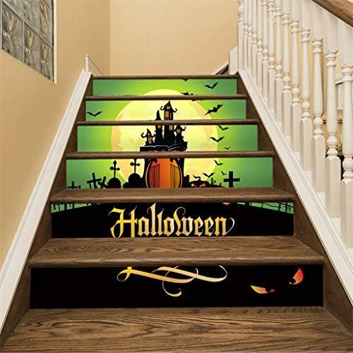 Jeeke Halloween 3D calcomanía de Cuervo Tombstone Escalera calcomanía Zombie Vampiro Calabaza Fantasma Pegatinas de Pared para Halloween Fiesta decoración: Amazon.es: Hogar