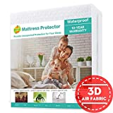 SOPAT Queen Mattress Protector 100% Waterproof Mattress Pad Cover,3D Air Fabric,Breathable Smooth Soft