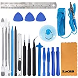 Zacro 21 in 1 Professional Opening Pry Tool Repair Kit and Screwdriver Set for Mobile Phone Repair, AntiStatic Wrist Strap Included