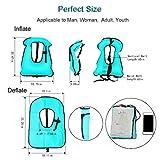 Faxpot Men/Women Adult Inflatable Life Jacket