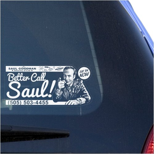Better Call Saul Clear Vinyl Decal Sticker for Window, Goodman Sign Art Print