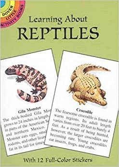 Book Learning About Reptiles (Dover Little Activity Books) by Jan Sovak (2001-07-12)