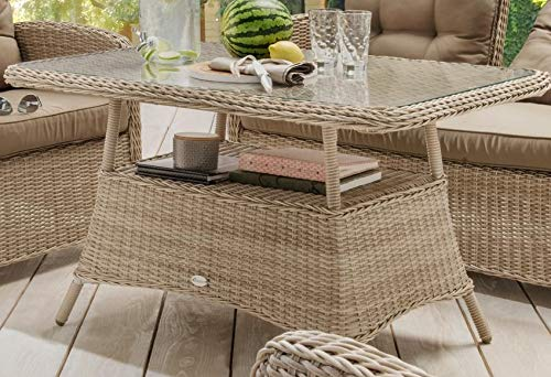 Destiny Loungetisch Merano Pearl Shell Tisch Gartentisch