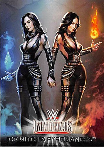 Ice Witch and Pyromancer trading card (Wrestling WWE WWF Wrestler) 2016 Topps Immortals #4 ()