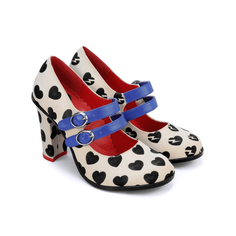 Hot Chocolate Design Chocolaticas High Heels He Loves Me, He Loves Me Not Women's Mary Jane Pump Multicoloured HCD 36