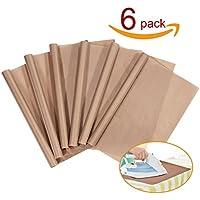 PTFE Teflon Sheet, 6-Pack Teflon Sheet for Heat Press...
