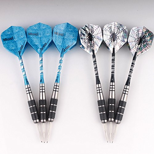 2 sets of Steel Tip Darts Tungsten Barrel Aluminium Shafts Professional Dart Set (Aluminium Barrel)