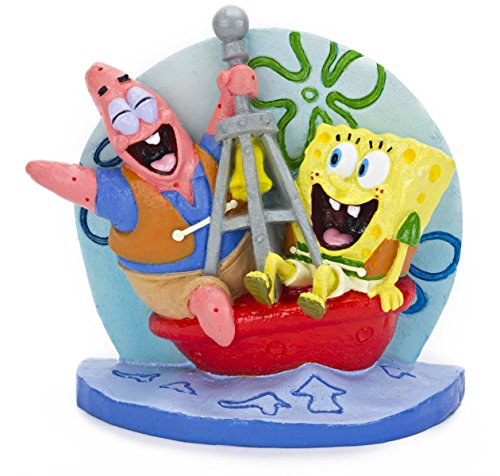 Aquaficial Penn Plax Spongebob Squarepants Dora The Explorer Aquarium Ornament Figure (Spongebob Squarepants, 3
