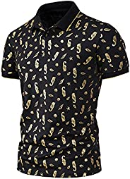 WZRY Mens Polo Shirts Short Sleeve Summer Casual Slim Fit Lapel Short Golf Tennis Blouses Basic Tops Henley Me